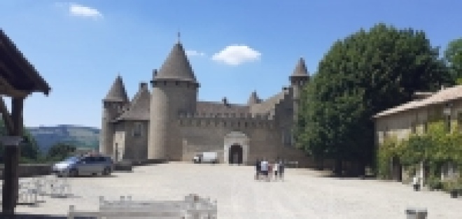 Tournage au Château de  Virieu